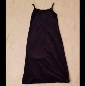 Navy-Blue Velvet Dress
